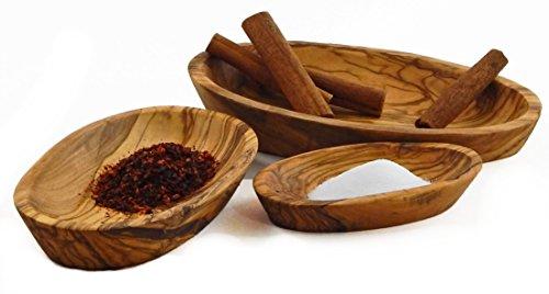 ve Wood Series of 3 Oval Nesting Trays, Medium, Natural (Medium Oval Tray)