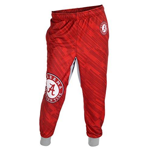 Alabama Crimson Tide NCAA Team Mens Cuffed Jogger Pants, Red (Large)