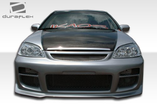 Duraflex ED-WOY-081 R34 Front Bumper Cover - 1 Piece Body Kit - Compatible For Honda Civic 2001-2003