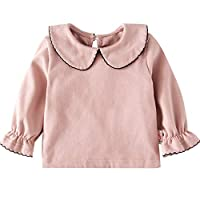 JIANGXIUQIN Baby Cute Girl Baby Doll Collar Long Sleeve Top Small Princess Cotton Top, Cute Princess Style Fashion Windproof Jacket