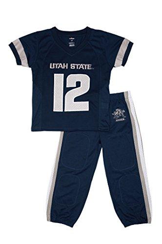 FAST ASLEEP Utah State Aggies Uniform Pajama Set New (5T)