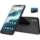"unlocked cell phones lenovo Moto One with Android One (64 GB) 5.9"" Max Vision HD+, NFC, Dual Rear Camera, Dual SIM GSM Unlocked Smartphone (International Version) (Black, 64GB + 64GB SD Bundle)"