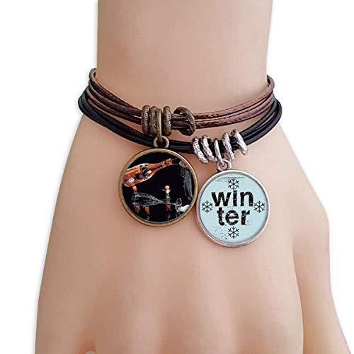 tle Ice Bucket Decoration Bracelet en Cuir de Bracelet Saison hivernale à la Corde ()