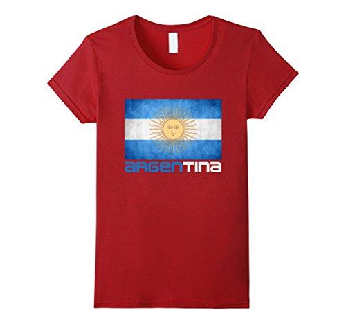 Argentina National Soccer Team T-Shirt Argentina Flag Tee