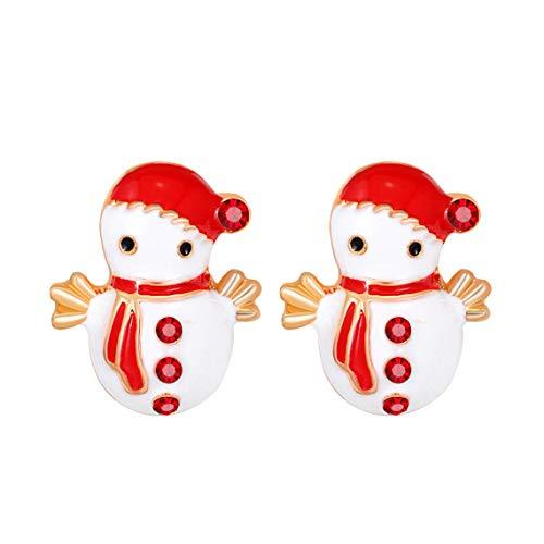 Festive Snowman Stud Earrings
