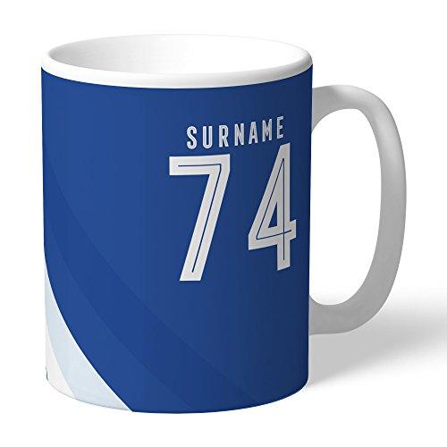 Everton Official Personalized FC Stripe Mug - FREE ()
