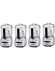 Cuisinart Mini-Prep Plus 4 Cup Food Processor, Silver (Certified Refurbished) (4 Pack)
