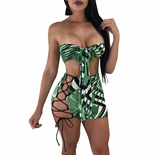 Puluo Jupe - sans Manche - Femme Green