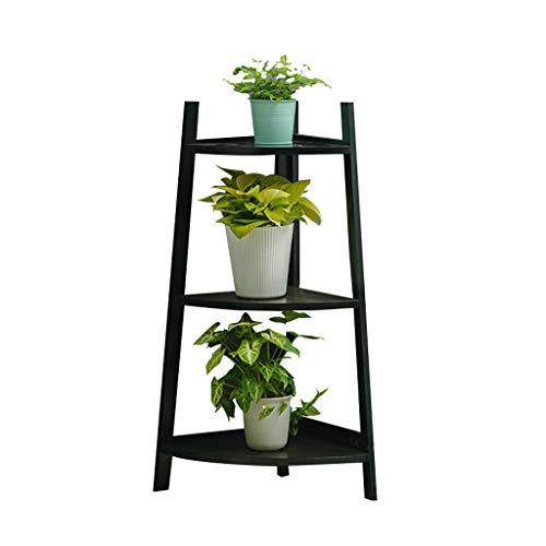 CSQ Bamboo Flower Stand, Plant Stand Shelf Floor Corner Living Room Bedroom Balcony Primary Color Multi-Layer Firm (Color : C, Size : 5085cm) by Flowers and friends