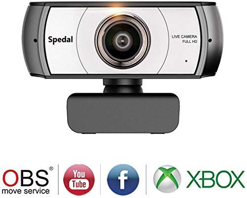 Spedal Full HD Webcam 1080p, Live Streaming