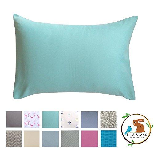 Ella & Max Toddler Pillowcase Aqua Color. Fits 13×18 & 14×19 Toddler Pillows. Easy to wash & no Ironing. Handmade in USA…