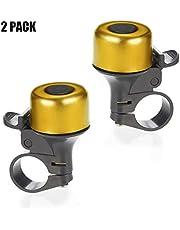 REKATA 2 Packs Aluminum Bike Bell, Bicycle Bell for Kids Girls Boys(7 Colors)