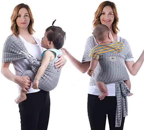 a5f7094283e PAPA Baby Wrap Carrier and Ring Sling-Extra Soft Lightweight Cotton Baby  Slings for Infant