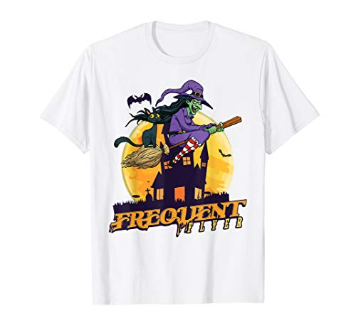 Frequent Flyer Witch Halloween Costume Funny T
