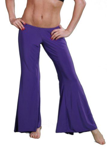 Belly Dance Lycra Yoga Pants | Desde - Purple - Medium/Large
