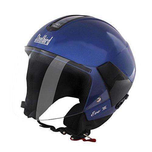 Steelbird SB 33 Eve Dashing X Open Face Helmet (Blue, L)