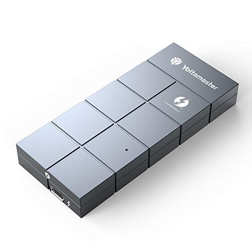 Thunderbolt 3 SSD Enclosure, Yottamaster 40Gbps Thunderbolt 3 to NVMe m.2 M-Key SSD Aluminum External Enclosure for 2280 M.2 NVMe SSD,with 50cm Thunderbolt Cable(Intel Certified)