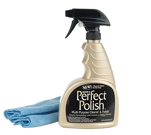 Hopes Perfect Polish and Multi-Surface Cleaner, 22-Ounce with Micro-Fiber Cloth (1)