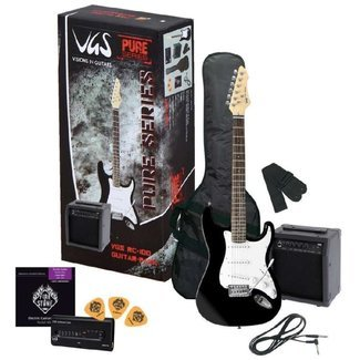 VGS de RC de 100 Guitar Pack, principiantes del paquete: E Guitar Negro, Amp + luxes: Amazon.es: Instrumentos musicales