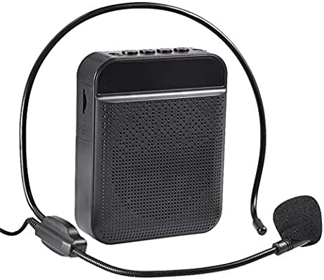 Amplificador De Voz Portatil Profesores,Amplificador De Voz Micrófono, Recargable De (1800 MAh) con Micrófono con Cable, Profesional Bluetooth Voice Amplifier Altavoz para Profesor, Guias Turíst: Amazon.es: Hogar