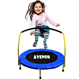 """Toddler Trampoline With Handle - 36"""" Kids Trampoline With Handle - Mini Trampoline"""