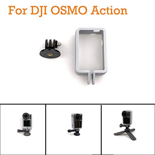 Sodoop Protective Cover Case + Vertical Photography Stand Adapter Compatible for DJI OSMO Action Camera Case 4K Camera ()