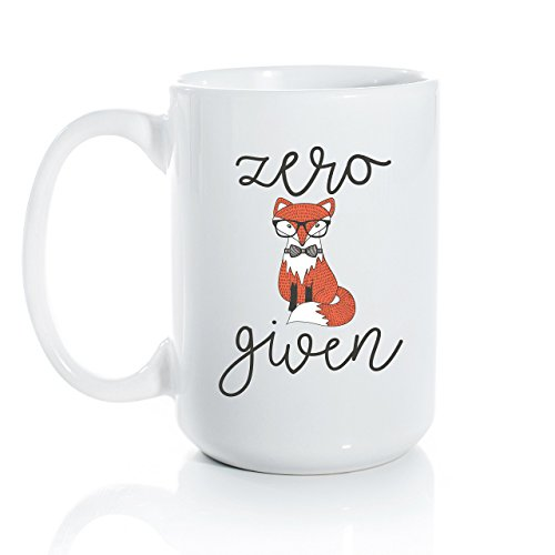 Zero Fox Given Ceramic Coffee Mug – Large 15oz Coffee Cup – Fox and Clover Original