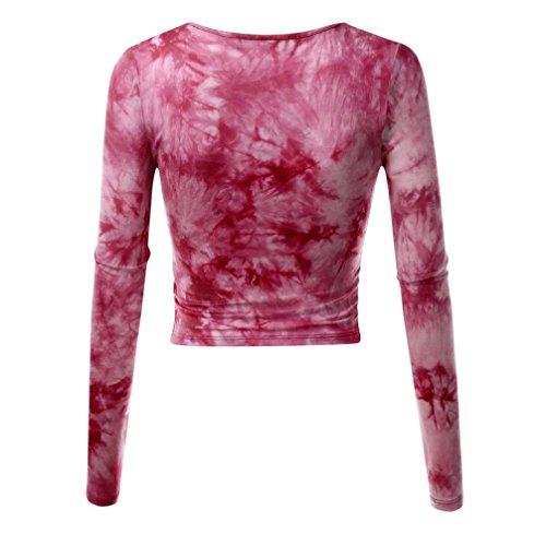 8d8d9057d1d2d1 ... ZIYOU Damen Kurz Langarmshirts mit Tiefem V-Ausschnitt Langarm Cross  Wrap Pullover Frauen Slim Fit ...