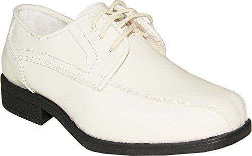 Jean YVES Boy Dress Shoe JY02KID Tuxedo for Wedding Formal Event (5 M US Big Kid, Ivory) - Jean Yves Tuxedos