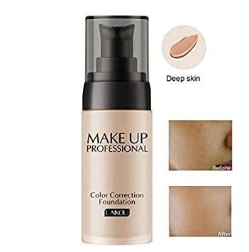 Amazon.com : Flawless Colour Changing Foundation Makeup Base Nude Face Liquid Cover Concealer (Deep Skin) : Beauty