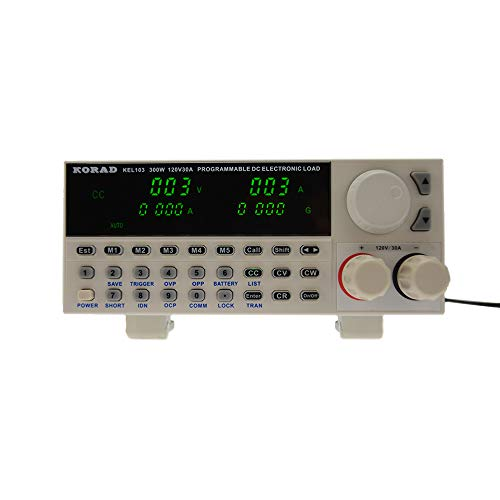 KORAD KEL-103 - Programmable DC Electronic Load, 300 Watt, Low Ripple