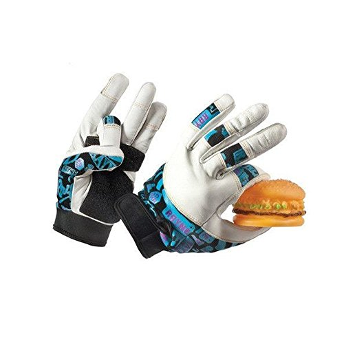 - Rayne Idle Hands Leather Slide Gloves XL, Longboard Skating Slide Gloves with Perforated Leather Fingers and Adjustable Neoprene Wrist Cuff, Delrin Dish-Shaped Puck