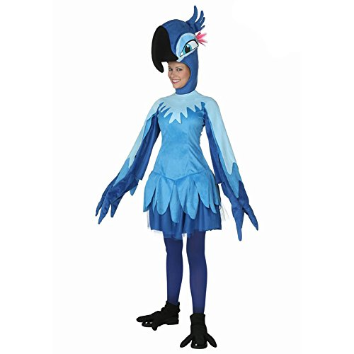[Dongya Women's Cartoon Animal Cosplay Costume Adult Blue Parrot Clothes] (Parrot Costume Female)