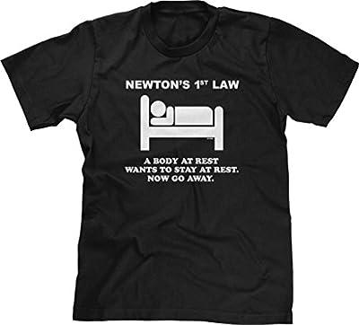 Blittzen Mens T-shirt Newton's 1st Law - Now Go Away