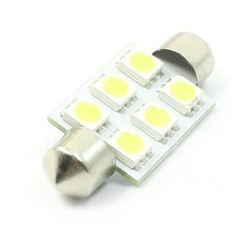 38 Carte 1 Light - eDealMax 38mm Festoon 6 Blanc 5050 SMD LED Intérieur lampe pour voiture automatique