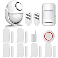Wireless Home Security Alarm System Door Alarm System for Home DIY Kit,Supports Amazon Alexa, App Control by iOS Andrioid Smartphone with PIR Motion Sensor,Door Contact Sensor