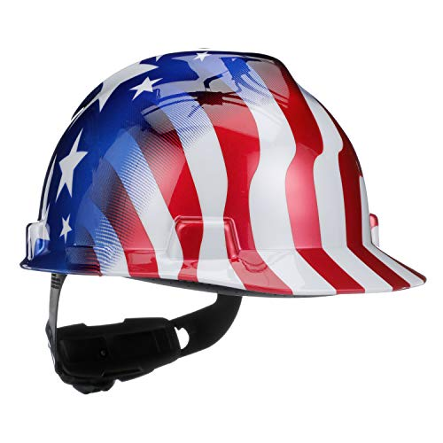 Construction Hard Hats With Logo (Safety Works 10052945 USA Patriotic Hard)