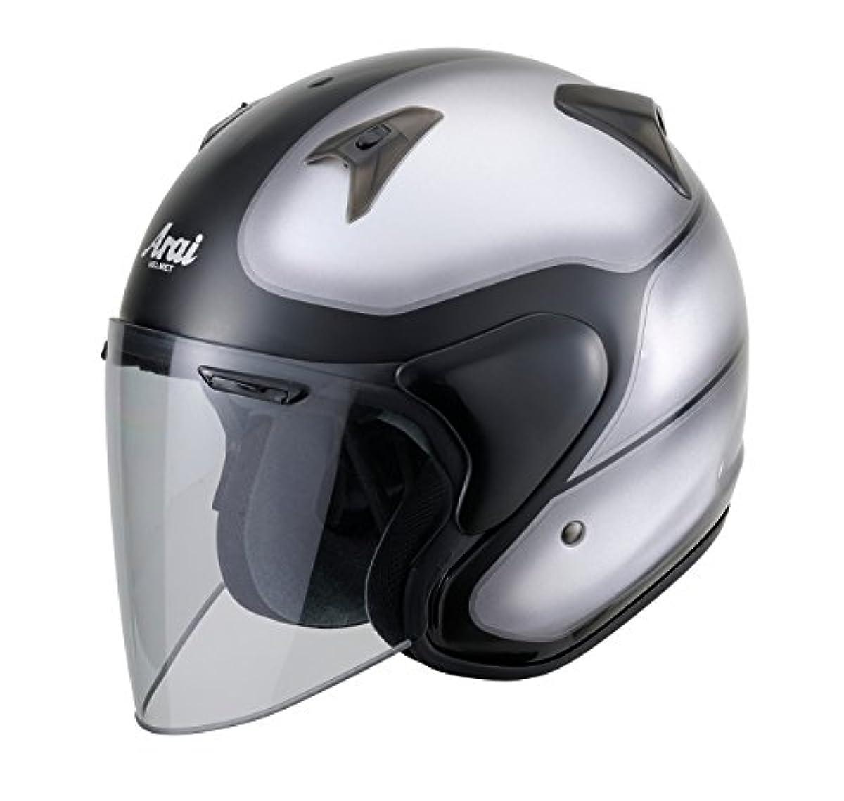 [해외] 아라이 오토바이 헬멧 제트 SZ-G VINTAGE빈티지 블랙/실버 M 57-58CM SZ-G VINTAGE