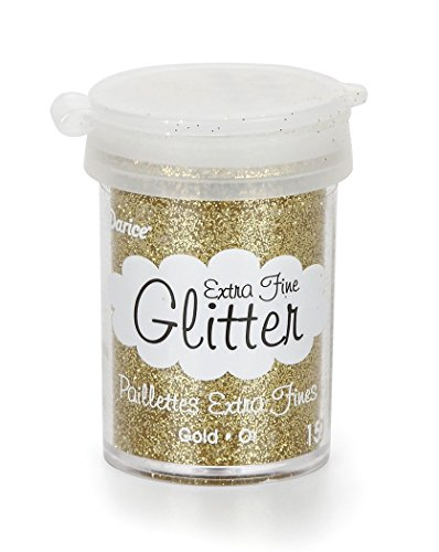 Darice Extra Fine Glitter, 15 g, Gold - Glitter Darice Gold