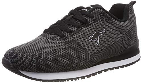 Sneakers Kangaroo Mens - KangaROOS Unisex's Retro Racer Woven Trainers, Schwarz (Jet Black/Steel Grey 5003), 3.5 UK