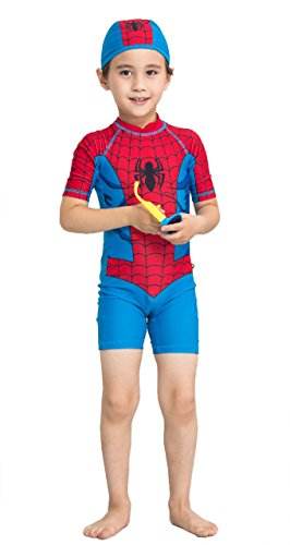 StylesILove Young Kids Super Hero Spiderman 2-piece Boy Costume Swim Set