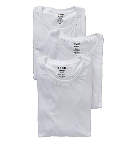 Izod 100% Cotton Crew Neck T-Shirt - 3 Pack (00CPT04) M/White