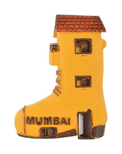 Temple Trees Polyresin Mumbai Shoe Hand Painted Fridge Magnet