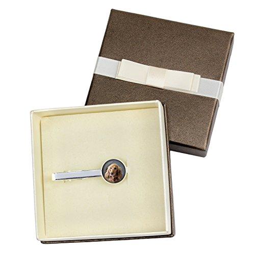 English Cocker Spaniel, Tiepins for dog lovers, Photo-Jewelry, Jewelry for Men, Handmade, Box