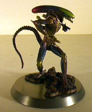 6 Inch Pewter Aliens Franklin Mint Statue with Base (Franklin Mint Rare)