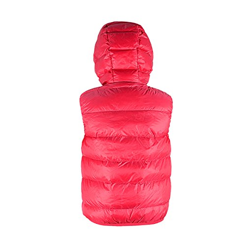 Zando Coat Puffer Hot Coral Vest Hooded Big Jacket Girls' Down Duck rxwzqrXgYv