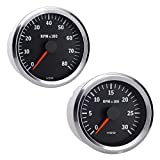 Vdo Instruments Semi Truck Electrical Programmable Tachometer Gauge Vision Chrome