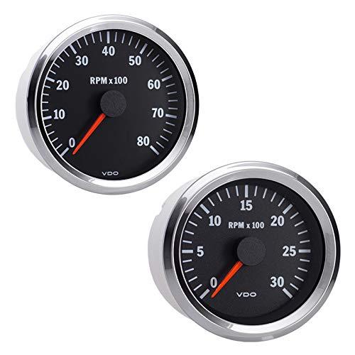 Vdo Instruments Semi Truck Electrical Programmable Tachometer Gauge Vision Chrome