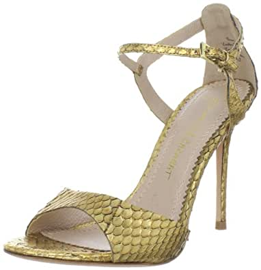 Jean-Michel Cazabat Women's Ozara Sandal, Old Gold, 37.5 EU/7.5 M US