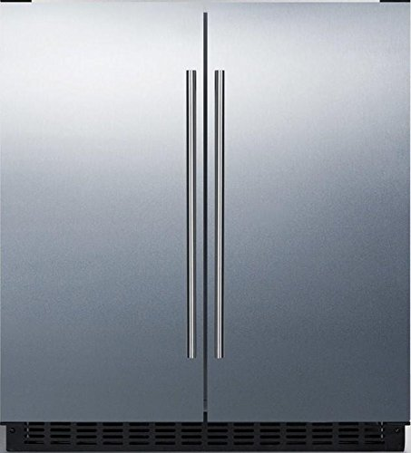 Summit FFRF3070BSS 30' Side-by-Side Compact Refrigerator and Freezer...